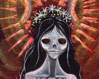 Strange Saints Art Print - Our Lady of Perpetual Creepiness