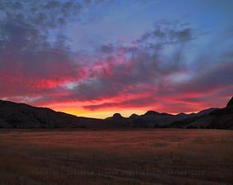 Landscape Photo | Oregon | Sunset Photograph | Central Oregon Landscape | Eastern Oregon | Sky Photo | Travel Photography