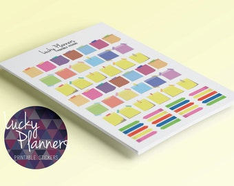 58 Printable Stickers Colorful Post-its