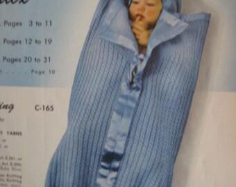 1950's Vintage Knitting PDF Pattern Baby Bunting 165