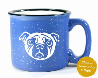 Pug Dog Mug - Choose Your Cup Color