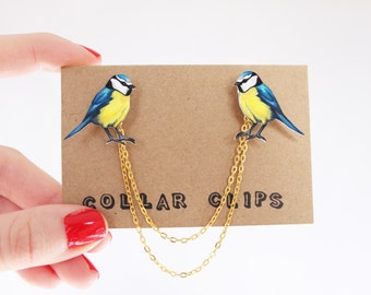 Collar Clips: Blue Tits