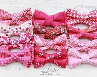 Pink Bowties, Pink Bow Ties, Hot Pink Bows, Hot Pink Bowties, Light Pink Bowtie, Fuchsia Bowtie, Baby, Child, Adult, Bowtie, Bow Tie, Bow