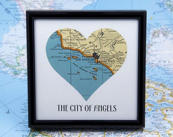 Map accessories etsy los angeles map art california wanderlust gifts for travelers college student gift housewarming gift office desk gumiabroncs Gallery