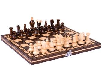Wooden chess set, Wooden chess board, Wood chess set, Chess set wood
