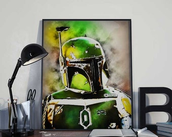Boba Fett - Star Wars Art Print Poster - PRINTABLE 8x10 inches - Ideal Last Minute Gift