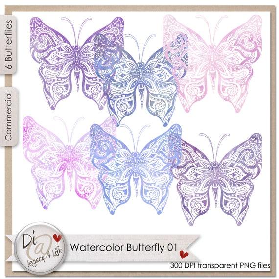 Acuarela mariposas 01, elementos PNG, PNG transparente, Scrapbook ...