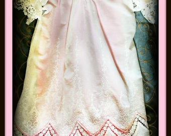 Baby girl Day Gown , Heirloom embroidery infant day gown  , bring me home dress gown , pin tuck Bastiste gown , Miss Lisa