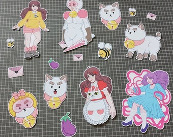 Bee + Puppycat Sticker Set - Small