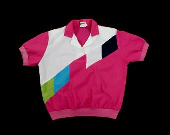 Vintage Clolor Block blouse