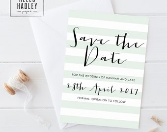 Printable wedding save the date card - Miller collection
