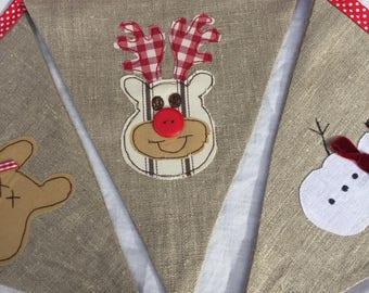 Christmas appliqué bunting