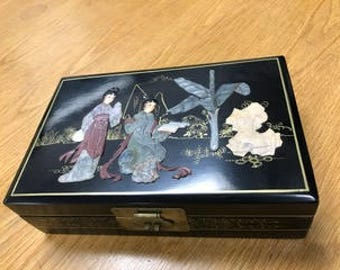 Jewelry Box hand-crafted with soapstone carving