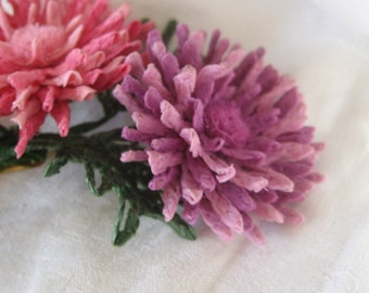 VINTAGE French Paper Flower Bouquet Costume Jewelry Brooch