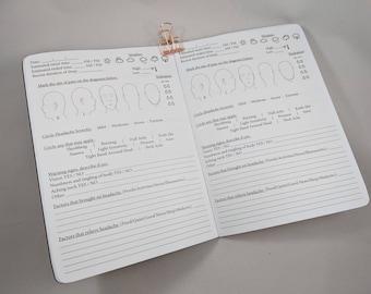 Headache or Migraine Tracker B6 sized TN Insert Traveler's Notebook Insert Fountain Pen Friendly Paper