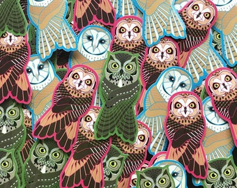 Vinyl Owl Stickers