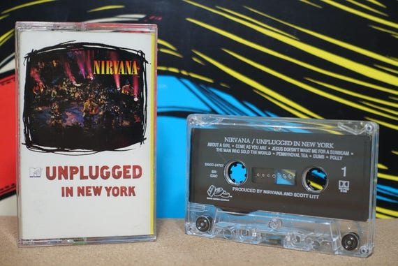 MTV Unplugged In New York by Nirvana Vintage Cassette Tape