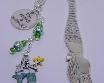 Mermaid Bookmark, Book Lover Gift, Mermaid Ornament, Mermaid Bookmarker, Beach Lover Gift, Mermaids, Mermaid Charms, Bridesmaid Gift,
