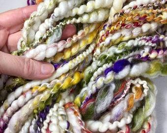 23.5 yd Skein Plied Thick Thin Merino Wool Soy Silk Free Combined Shipping Fiber Art Felt Knit Crochet Supply