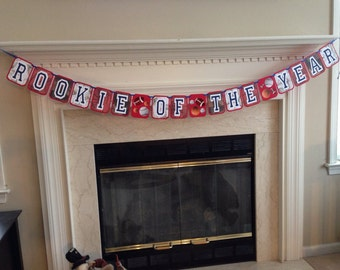 Rookie of the Year Banner, Rookie of the Year birthday theme, all-star first birthday, sports first birthday theme, sports theme birthday