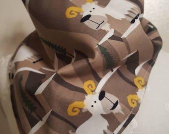 Mountain goats tie on bandana