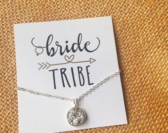 Bridesmaid Gift - Bridesmaid Necklace - Bridal Party Gift