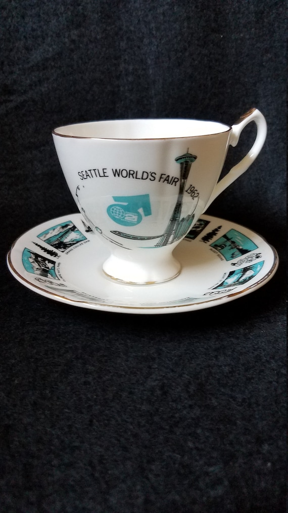 1962 Seattle World's Fair Souvenir Cup and Saucer