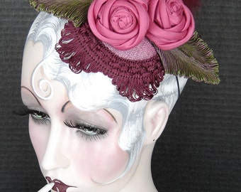 Ribbon Rose Fascinator On Sale