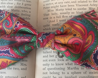 Paisley Bow Tie, Liberty Bow Tie, Pink Bow Tie, psychedelic   Fashion , Retro look, 60's style, Gift For Men