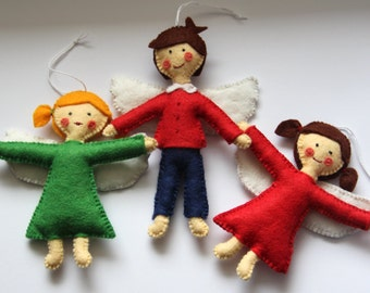 Felt Angel, Guardian Angel Girl or Boy