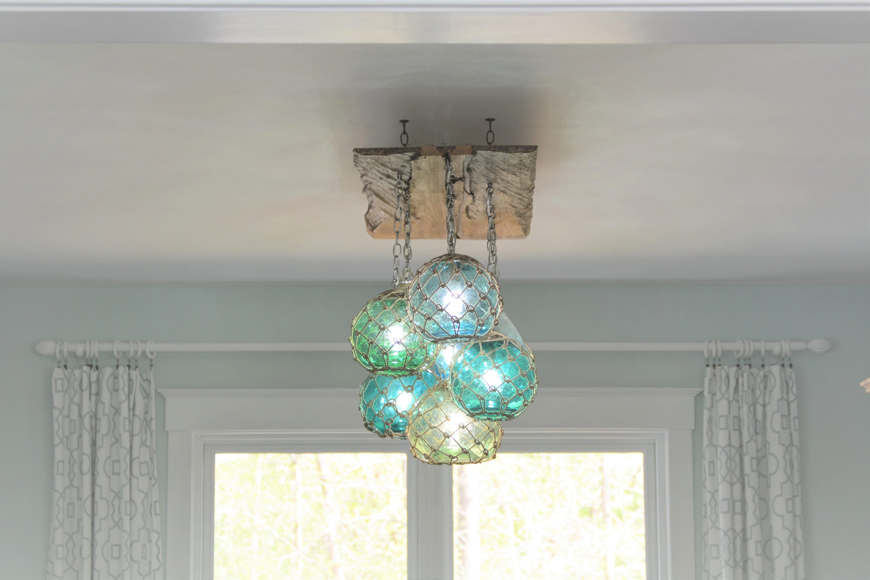 Vintage glass fishing float light fixture chandelier with 7 description custom order light fixture arubaitofo Gallery