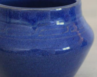 Cobalt blue hand thrown pottery jar