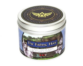 The Legend of Zelda the Fishing Hole  Scented candle - Legend of Zelda - Nintendo - Gaming candle - Link - Zelda gift - Retro Gaming gift