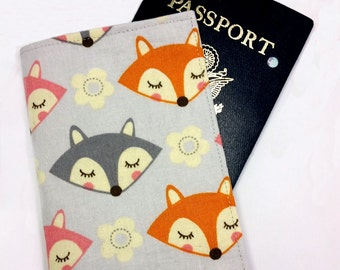 FREE SHIPPING UPGRADE with minimum -  Passport case / passport holder / passport cover : What Did the Fox Say