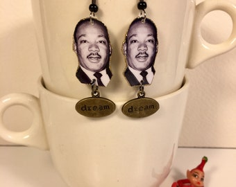 Martin Luther King Jr  Earrings Civil Rights I have a Dream
