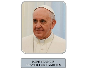 Pope Francis Prayer for Families Prayer Card