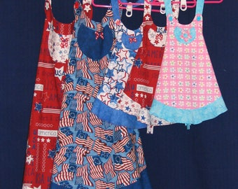 PATRIOTIC APRONS  Adult and Childs Small