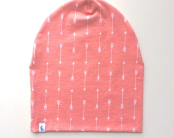 Baby Beanie - Slouchy Beanie - Coral Arrow Slouchy Beanie - Beanie Hat - Baby Slouchy Beanie - Slouchy Hat