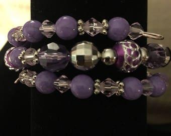 Purple Wire Wrap Bracelet