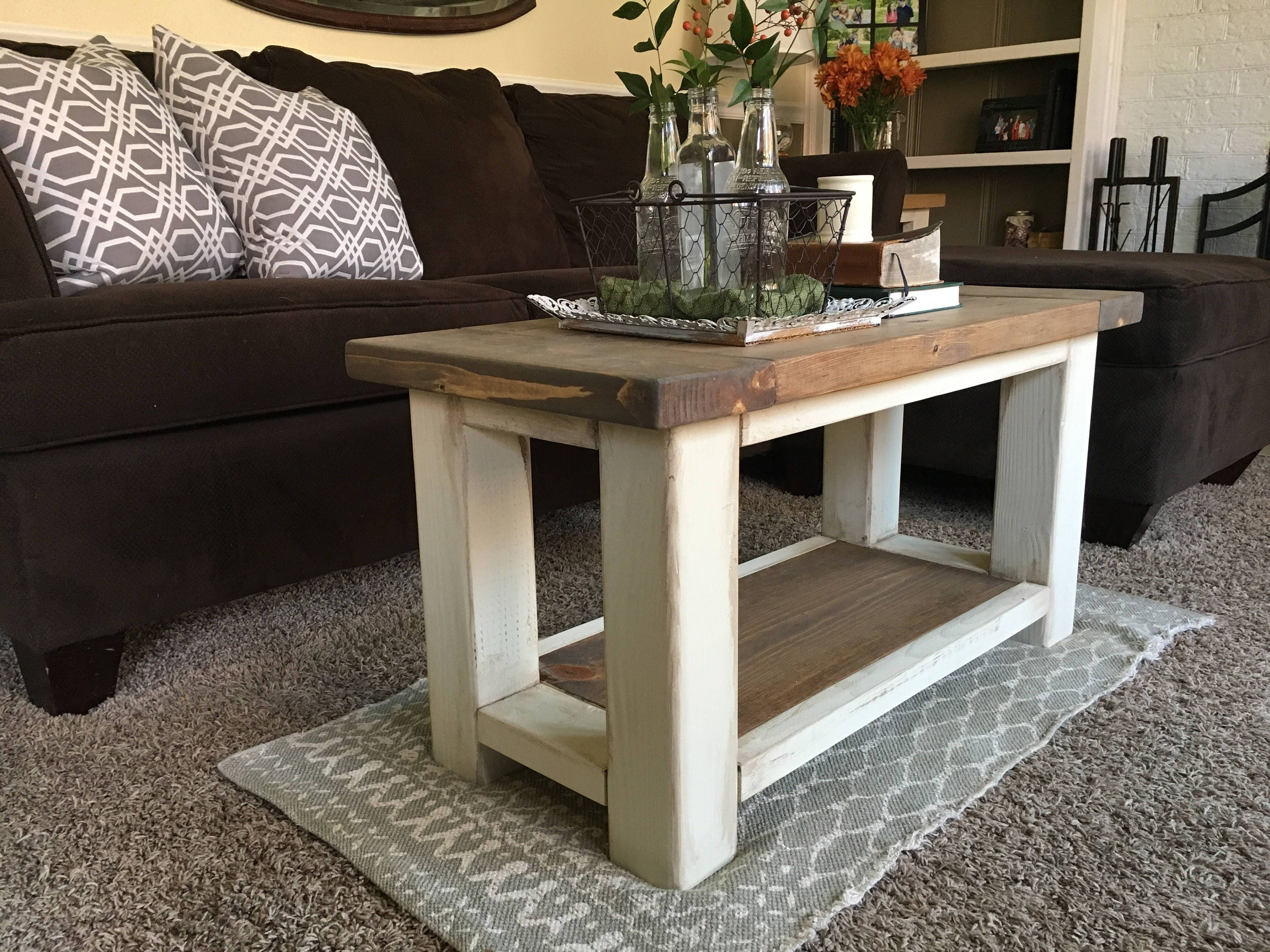 Chunky Farmhouse Coffee Table Rustic Coffee Table
