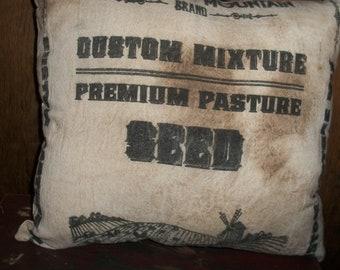 Primitive Seed Sack Pillow