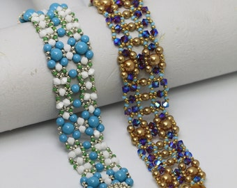 PDF Tutorial - Amarie Bracelet Beading Pattern Beadweaving Instruction Instant download