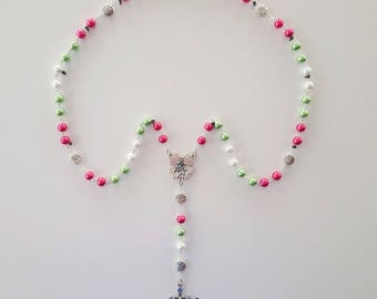 Pink / Green / White Rosary