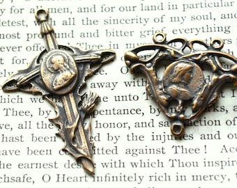 St. Joan of Arc Rosary Set - Chaplet Set - Catholic Medal - Vintage Replica - Made in the USA  (SF10/CR)