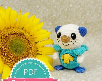 Pokemon Oshawott Crochet Pattern, Amigurumi Crochet Pattern, Pokemon Toy Pattern, Pokemon Crochet Pattern, Kawaii Pokemon Pattern Doll