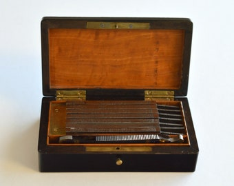 Napoleon Shaving Set of Six Day Blades (Sorillet), France 1860