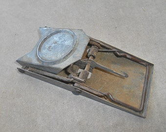 Vintage Galvanized Metal Rodent Trap