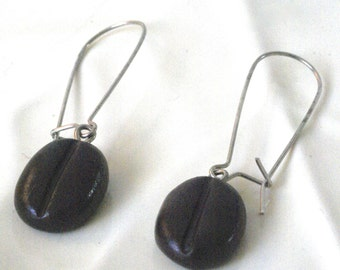 Coffee Bean Earrings, Gift for friend, Coffee Love Gift, Coffee Earrings, Barista, Gift for Teacher, Java Earrings, Foodie, Coffee Jewelry