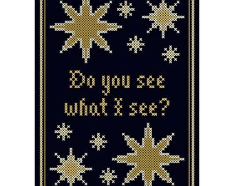 Do You See What I See? - Original Cross Stitch Chart