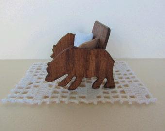 Rustic Miniature Bear Bench